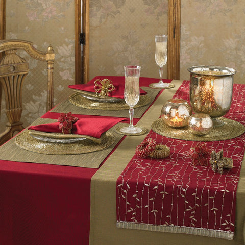 Red Decorative Tablecloth