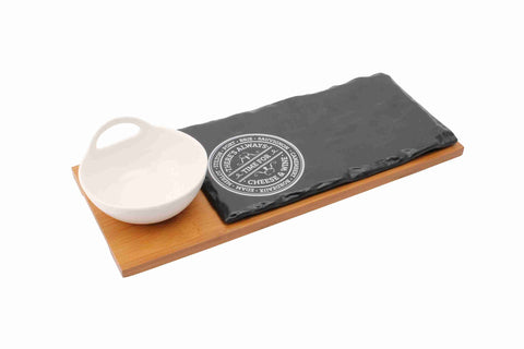 Slate Look Board with Bowl