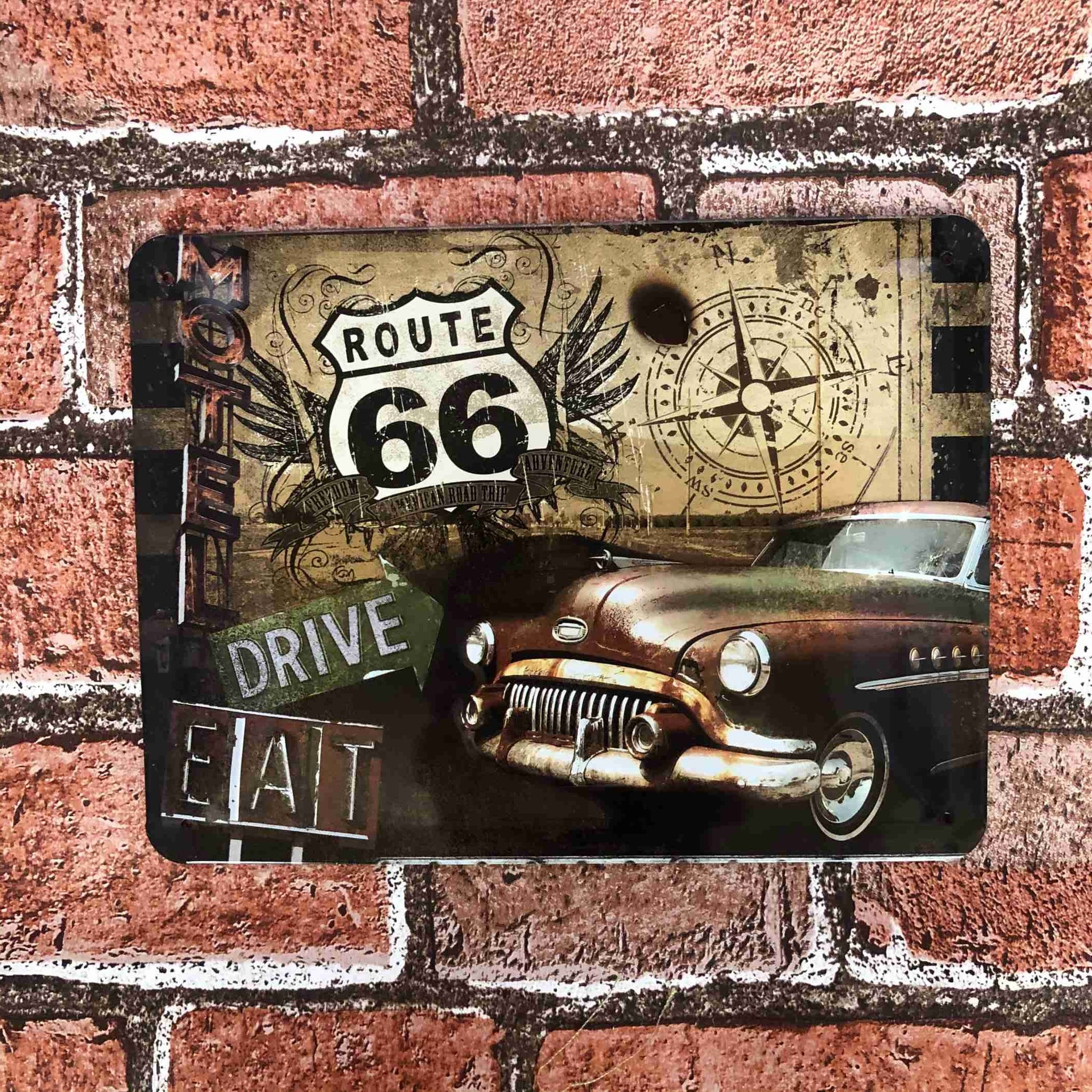 Route 66 Small Metal Sign