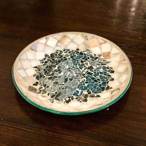 Glass Candle Plate Seaside
