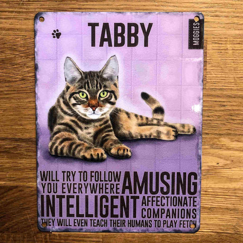 Tabby Small Metal Sign
