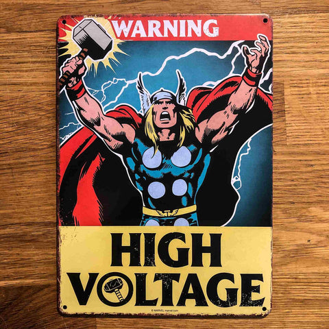 Thor Small Metal Sign