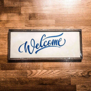 Welcome Handmade Wooden Sign