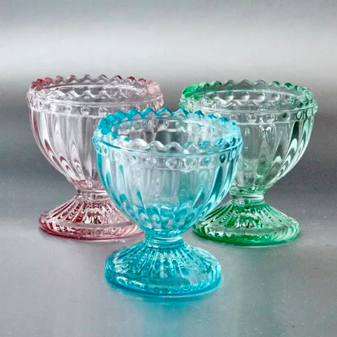 Ribbed Glass Egg Cup