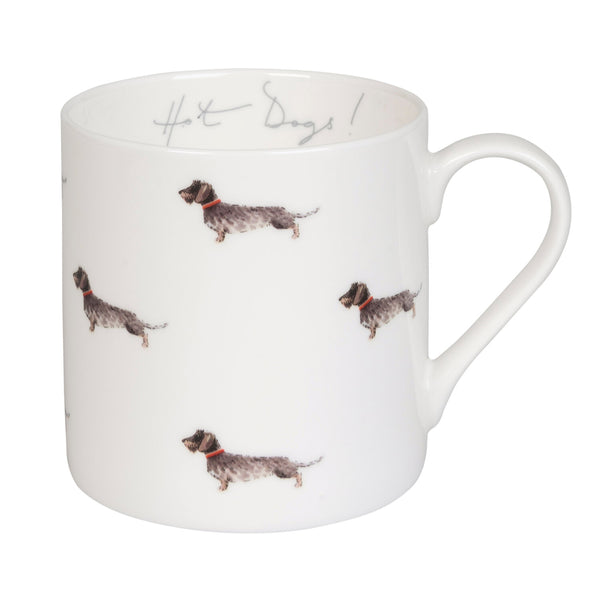 Dachshund 'Hot Dogs' Mug Large