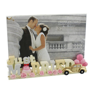 Just Married Resin Frame (6x4)