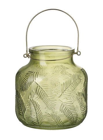 Green Palm Leaf Lantern