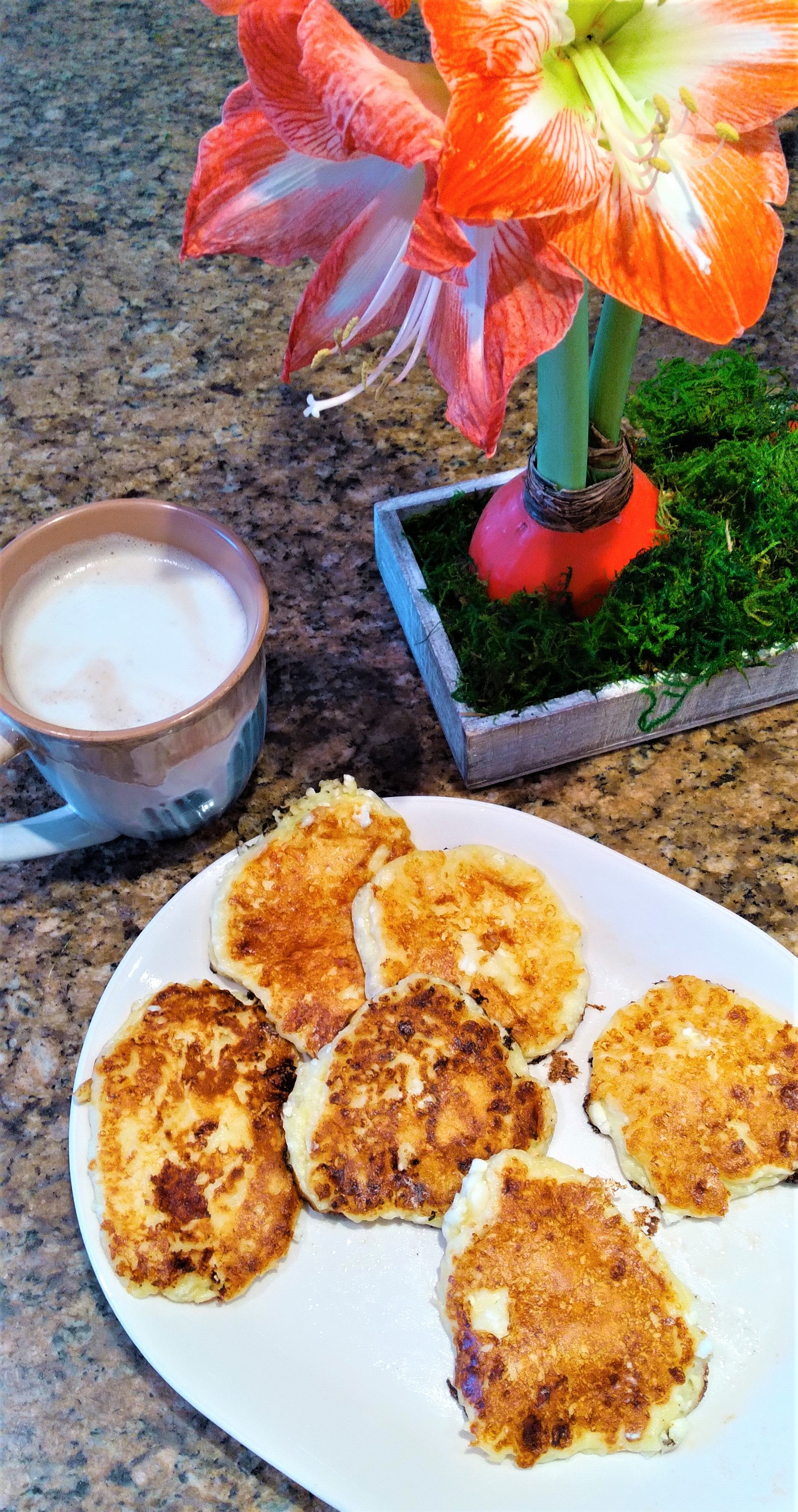 OATrageously Cheesy Pancakes with probiotics