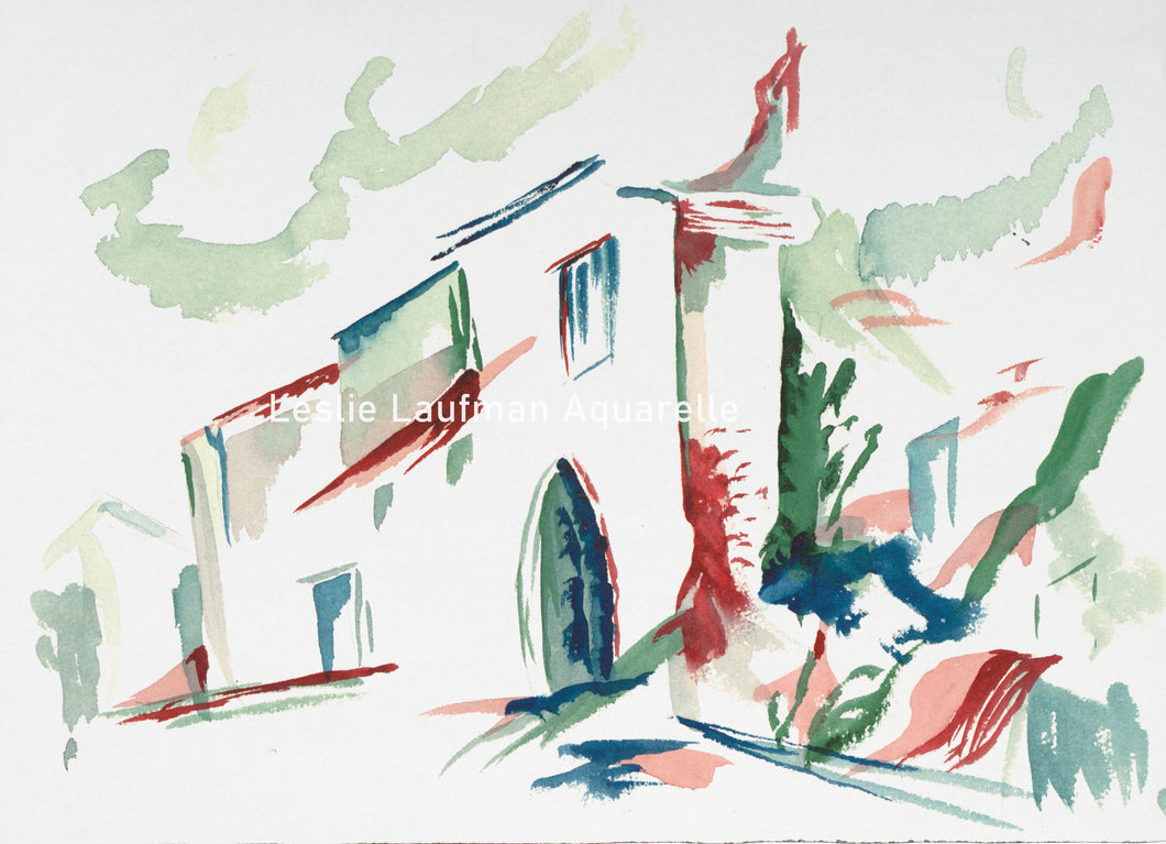 ZZ Abstract House print