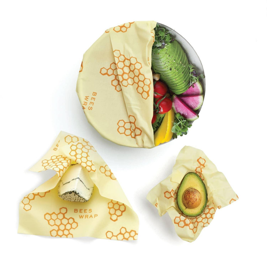 Bees Wrap Assorted 3 Pack-Honey Comb