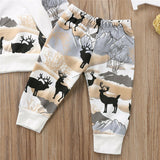 2 PC Reindeer Christmas Hoodie & Pants Set