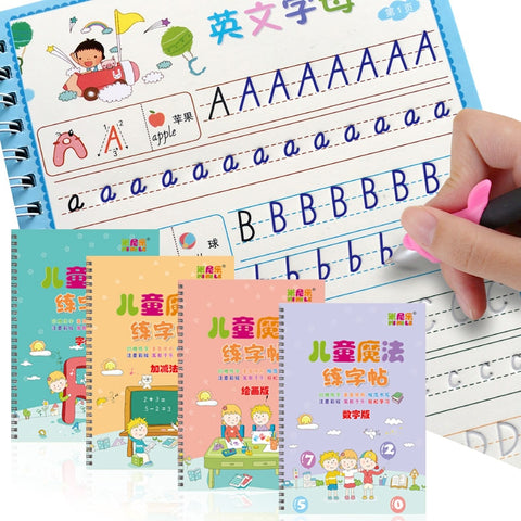 4 Magic Reusable Writing Books