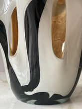 Load image into Gallery viewer, Murano black and white glass vase C.1970