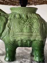 Load image into Gallery viewer, Mid century Asian elephant lamp and shade