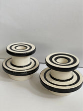 Load image into Gallery viewer, Sicilian ceramic candle holders x 2