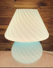 Load image into Gallery viewer, Blue Murano Mushroom lamp