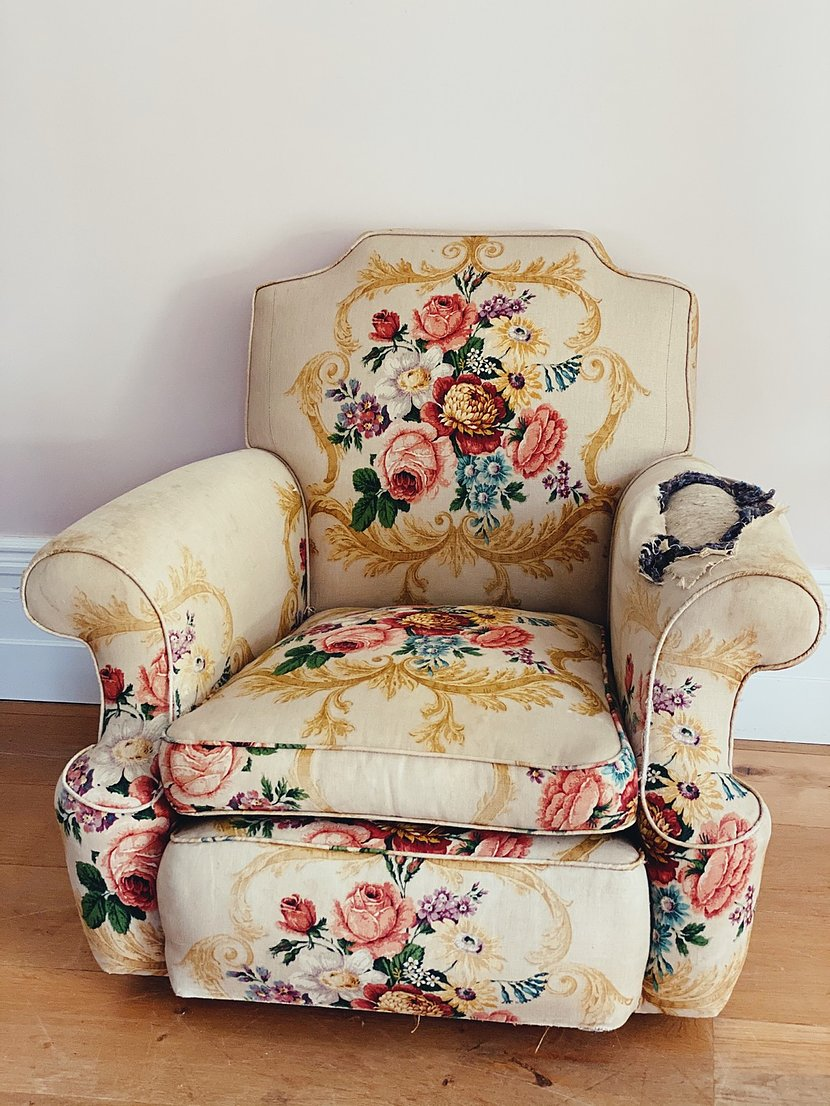French 19th century arm chair