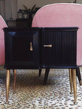 Load image into Gallery viewer, Italian Mid Century Black side cabinets
