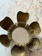 Load image into Gallery viewer, Italian brass flower mirror c.1950