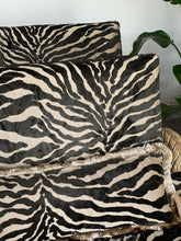 Load image into Gallery viewer, Luxury zebra print armchair ~ 1980