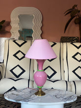 Load image into Gallery viewer, 1950s pink french glass lamp