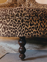 Load image into Gallery viewer, George Smith leopard print Conversation chair