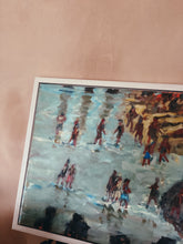 Load image into Gallery viewer, Beach scene oil painting by Ross Foster BBC winning artist.