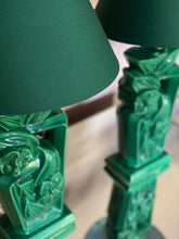 Load image into Gallery viewer, Large 1950s green ceramic lamps