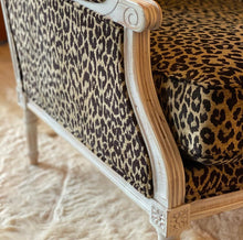 Load image into Gallery viewer, Leopard print Bergere chair