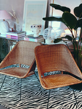 Load image into Gallery viewer, Italian 1950s rattan chairs with pin legs