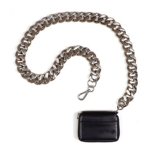 Luxury Women Totes Ins Thick Metal Chain Shoulder Bag