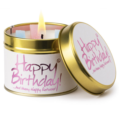 Lily-Flame Happy Birthday Candle Tin - Coorie Doon