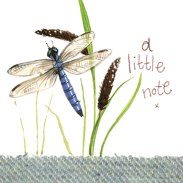 Card: Dragonfly A Little Note - Coorie Doon