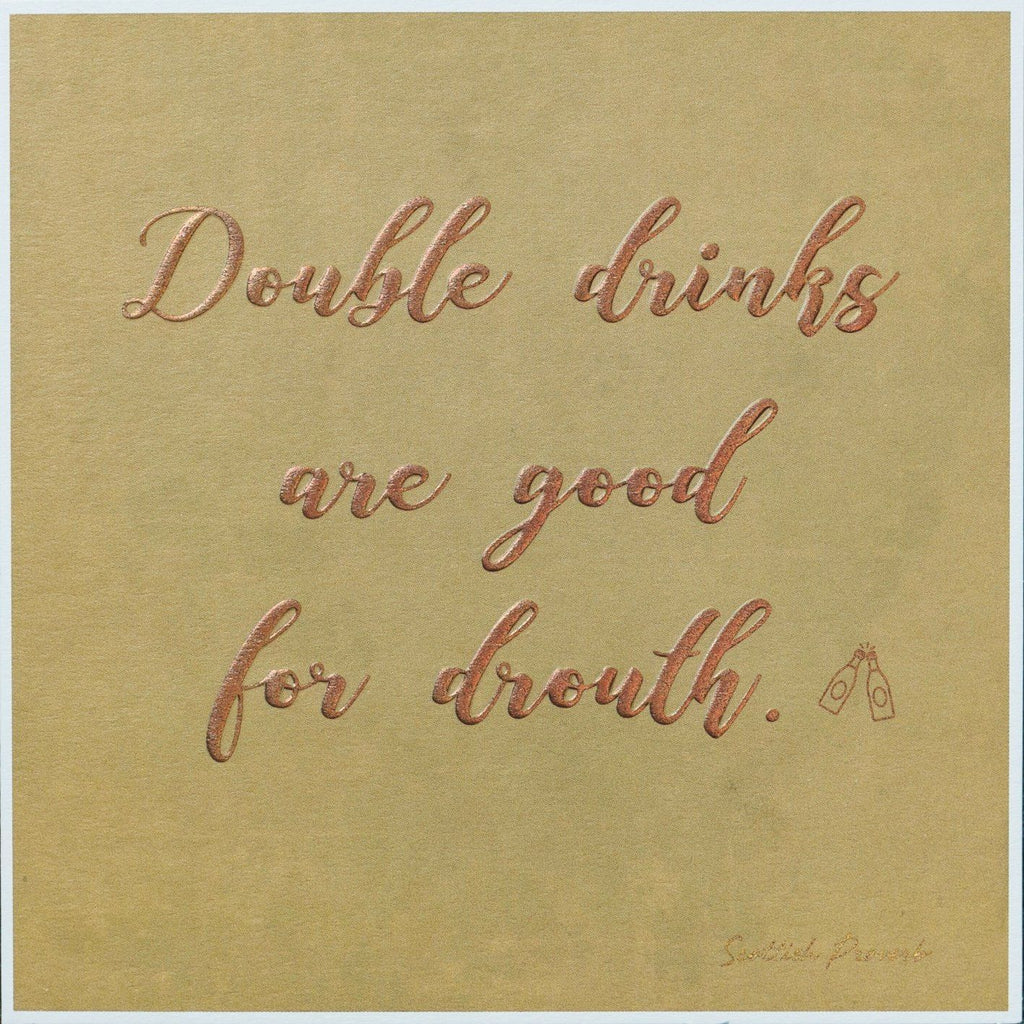 Card: Double Drinks... - Coorie Doon