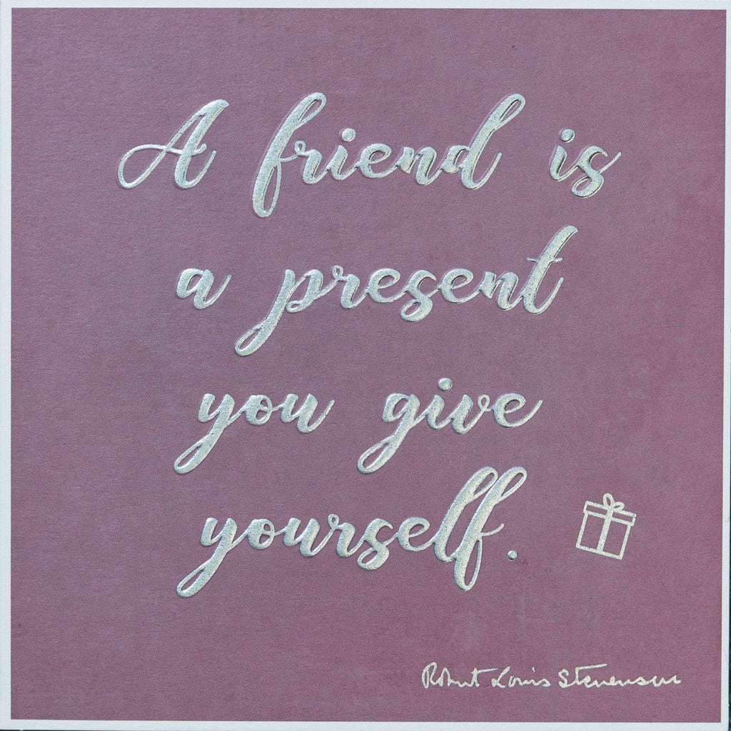 Card: A Friend Is A Present - Coorie Doon
