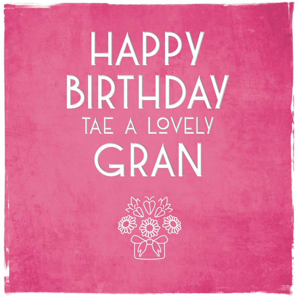 Card: Birthday Gran - Coorie Doon