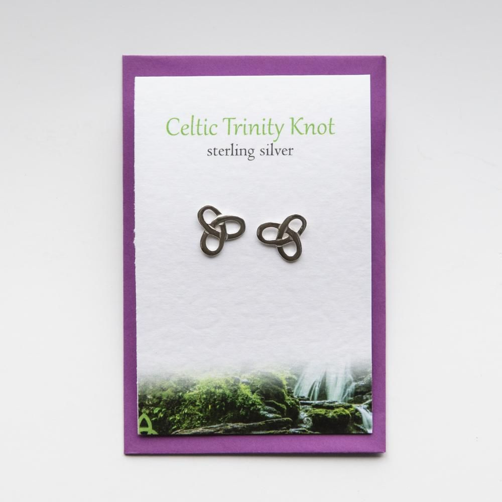 Silver Studio - Celtic Trinity Knot Stud Earrings - Coorie Doon