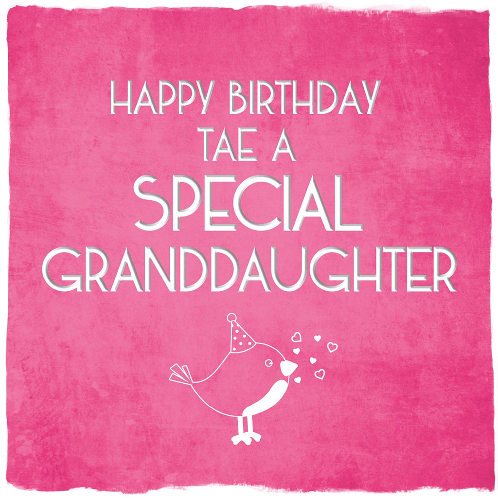 Card: Special Granddaughter - Coorie Doon