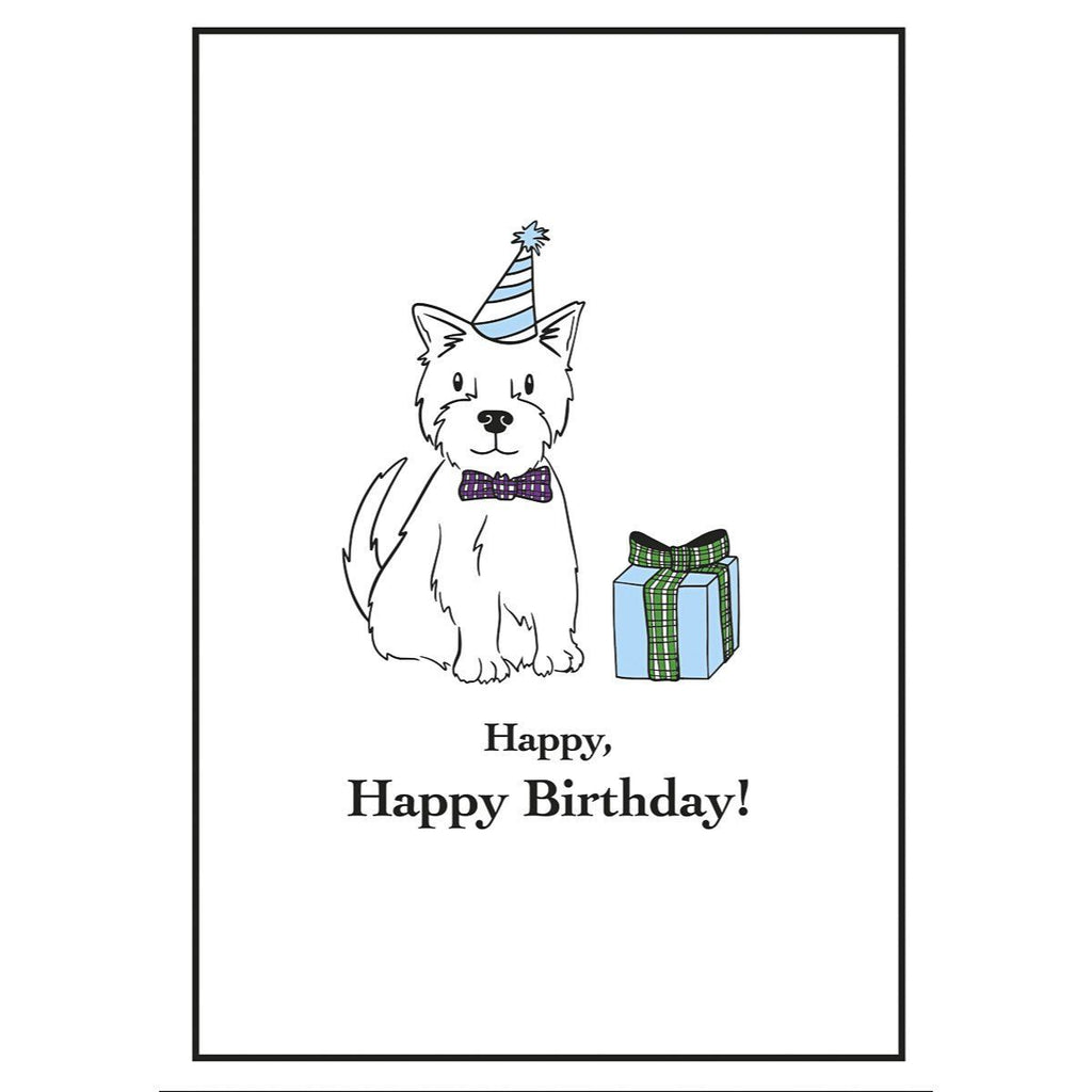 Card: Wee Westies Happy Happy Birthday - Coorie Doon
