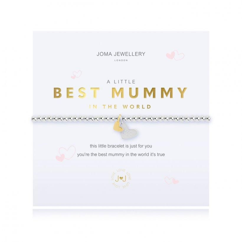 Joma Jewellery A Little Best Mummy in the World Bracelet - Coorie Doon