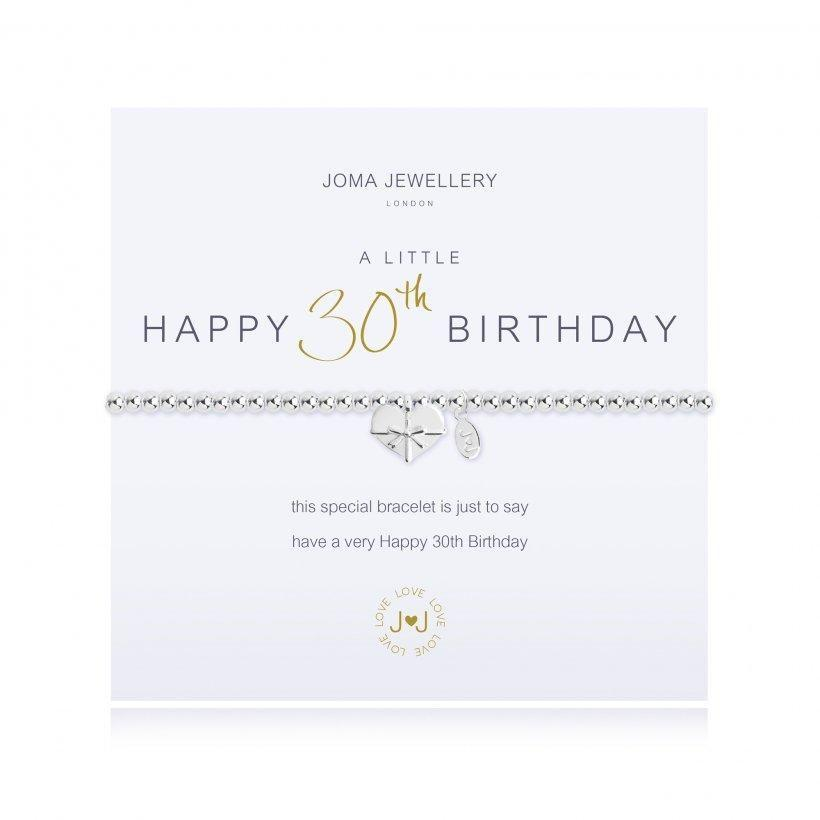Joma Jewellery A Little Happy 30th Birthday Bracelet - Coorie Doon