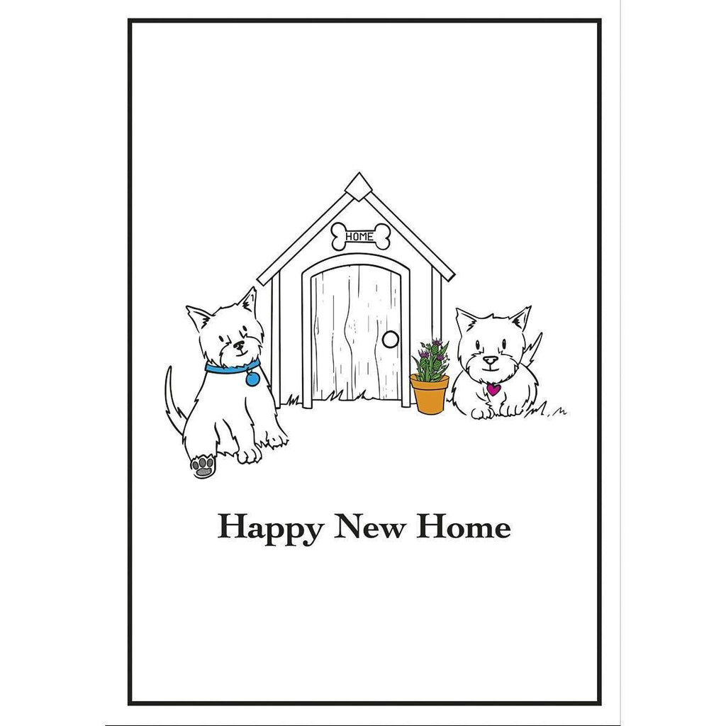 Card: Wee Westies Happy New Home - Coorie Doon