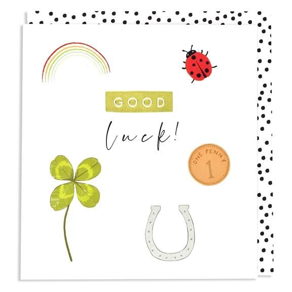 Card: Good Luck - Coorie Doon