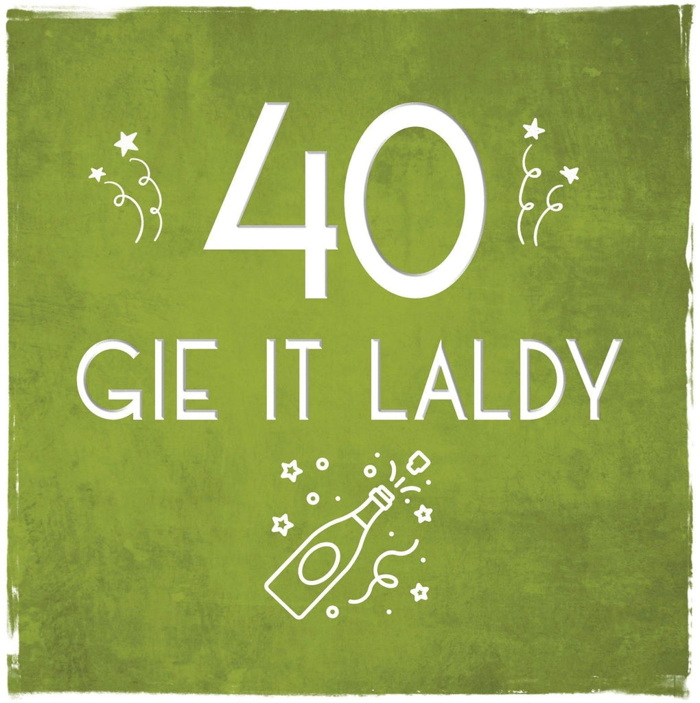 Card: 40 Gie It Laldy - Coorie Doon