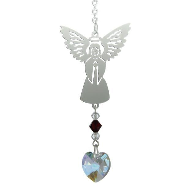 Birthstone Angel Suncatcher - January - Coorie Doon
