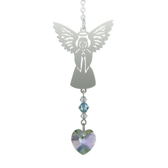 Birthstone Angel Suncatcher - March - Coorie Doon