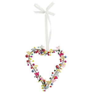 Beaded Heart with Butterflies - Coorie Doon