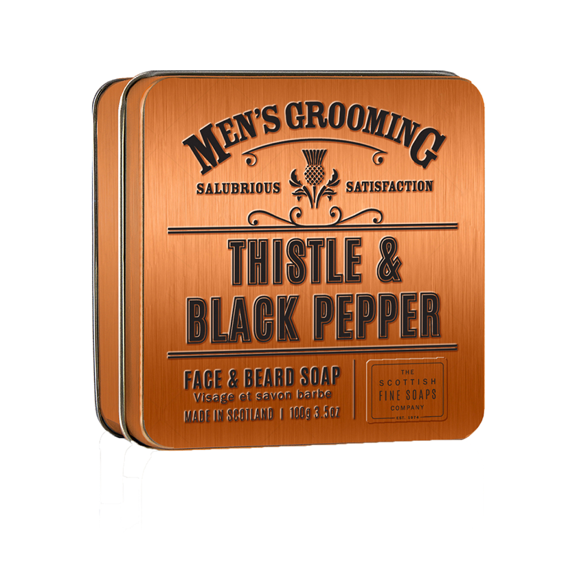 Thistle & Black Pepper Face & Beard Soap - Coorie Doon