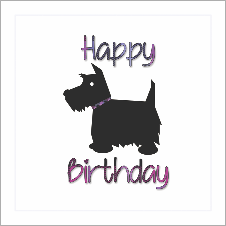 Card: Happy Birthday Scottie (Heather) - Coorie Doon