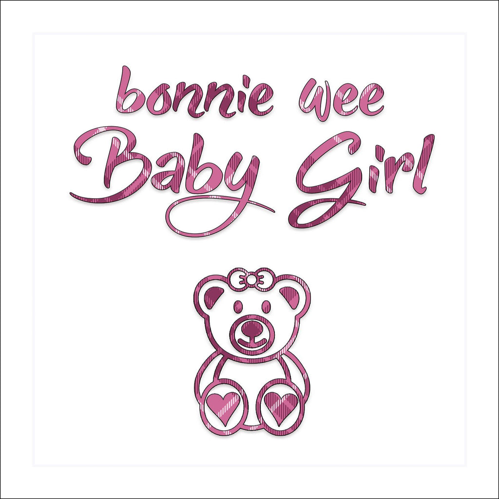 Bonnie Wee Baby Girl Card - Coorie Doon
